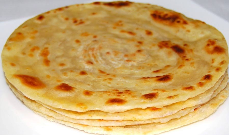 Four piece of fried parata