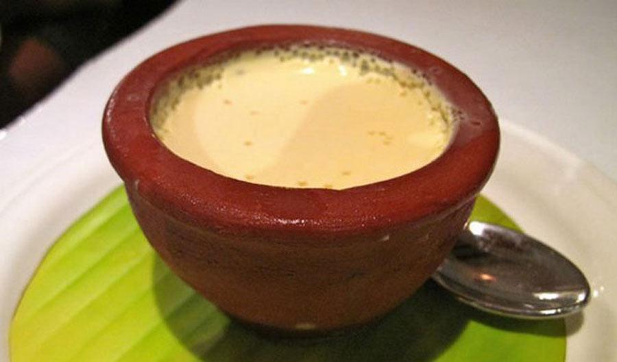 a cup of sweet yogurt