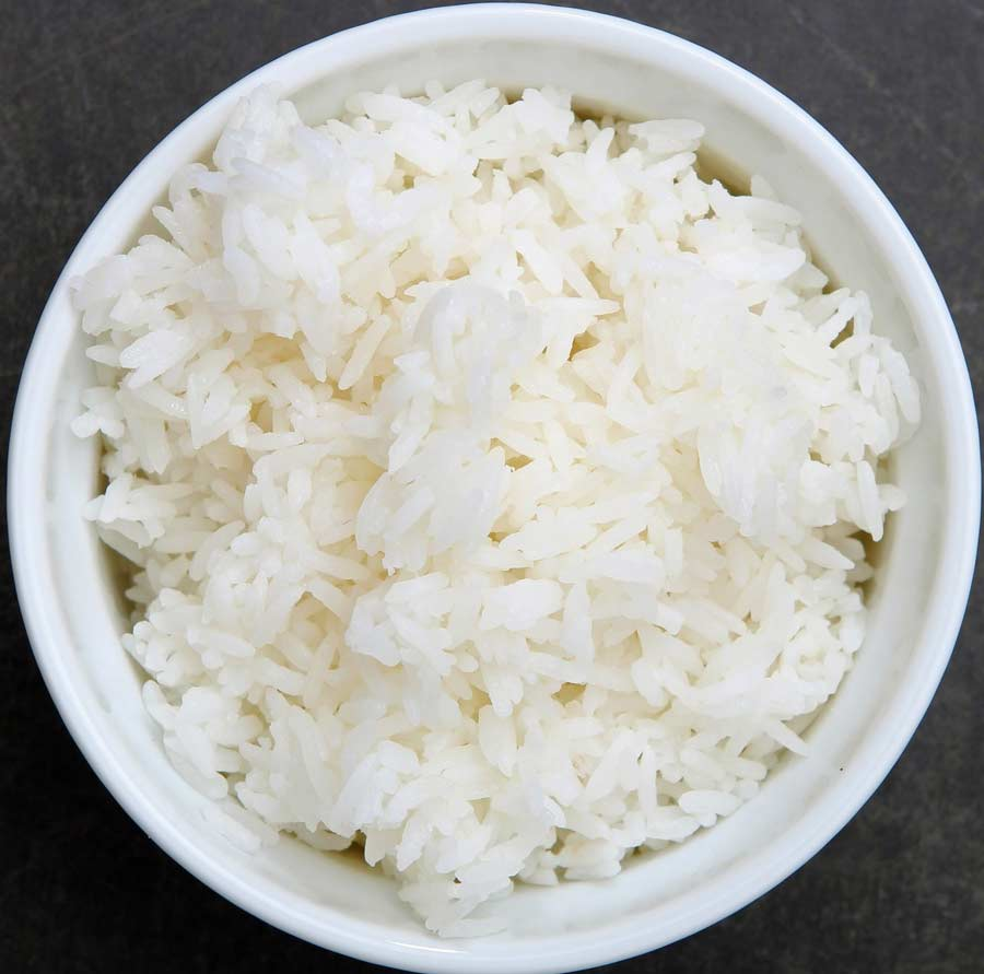 Rice on a bowl