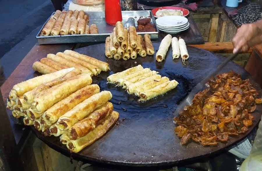 Tikka kebab are a common on the street of Bangladesh. Main ingredient are wheat and beef meat.